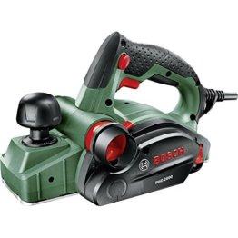 Bosch Handhobel PHO 2000, Hobelmesser, Karton (680 W, Hobelbreite 82 mm, Spantiefe 0 – 2,0 mm, Falztiefe 0 – 8 mm) - 1