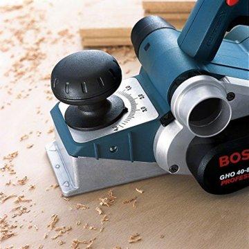 Bosch Professional Hobel GHO 40-82 C (850 Watt, inkl. Falztiefenanschlag, Parallelanschlag, Staubbeutel, Zusatzmesser, im Koffer) - 4
