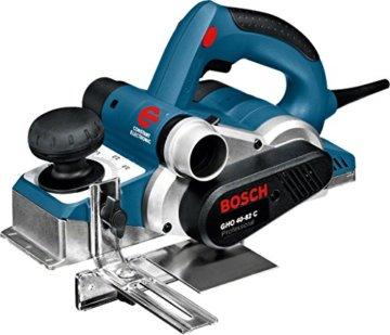 Bosch Professional Hobel GHO 40-82 C (850 Watt, inkl. Falztiefenanschlag, Parallelanschlag, Staubbeutel, Zusatzmesser, im Koffer) - 1