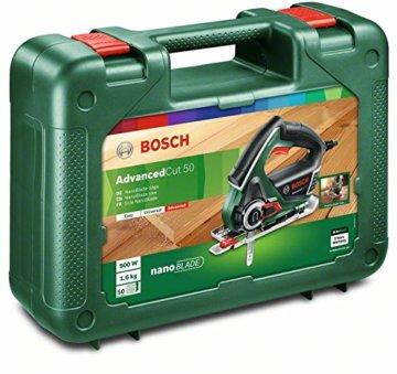 Bosch Säge AdvancedCut 50 (500 Watt, NanoBlade Technologie, im Koffer) - 2