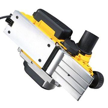 DeWalt Elektrohobel/ Hobel (1,050 Watt, Hobelbreite 82 mm, max. Hobeltiefe 4 mm, Hobelstärke in 1/10 mm-Schritten schnell und präzise einstellbar, für harte Holzarten geeignet, inkl. Zubehör) D26500 - 3