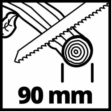Einhell Akku-Astsäge GE-GS 18 Li – Solo Power X-Change (Lithium Ionen, 18 V, Sägeblattlänge 150 mm Qualitäts-Sägeblatt, werkzeugloser Sägeblattwechsel, abnehmbarer Astbügel, ohne Akku und Ladegerät) - 13