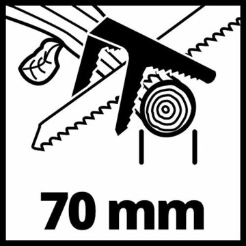 Einhell Akku-Astsäge GE-GS 18 Li – Solo Power X-Change (Lithium Ionen, 18 V, Sägeblattlänge 150 mm Qualitäts-Sägeblatt, werkzeugloser Sägeblattwechsel, abnehmbarer Astbügel, ohne Akku und Ladegerät) - 14