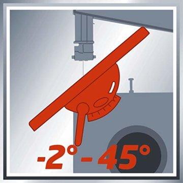Einhell Bandsäge TC-SB 200/1 (250 W, max. Schnitthöhe 80 mm, Durchmesser Absauganschluss 36 mm, Parallelanschlag, Schiebestock) - 10